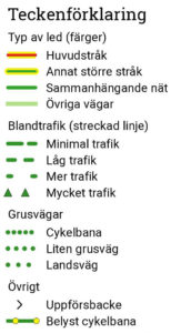 Teckenförklaring cykelkartor